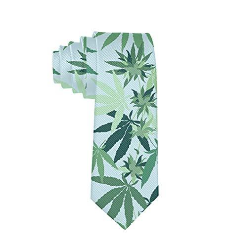 Corbata de hombre para novios o novios, regalo de fiesta (hoja de marihuana y marihuana) Pesca de tiburón Quint's Talla única