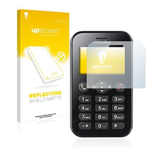 upscreen Entspiegelungs-Schutzfolie kompatibel mit Simvalley Mobile RX-484 Pico – Anti-Reflex Bildschirmschutz-Folie Matt