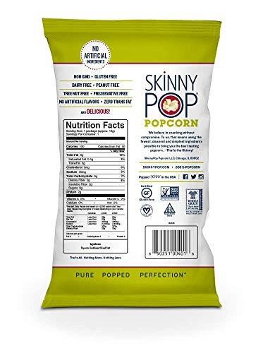 SkinnyPop Original Popped Popcorn, 100 Calorie Individual Bags, Gluten-free Popcorn,Non-GMO Vegan Snack, 0.65 Oz (Pack Of 30)