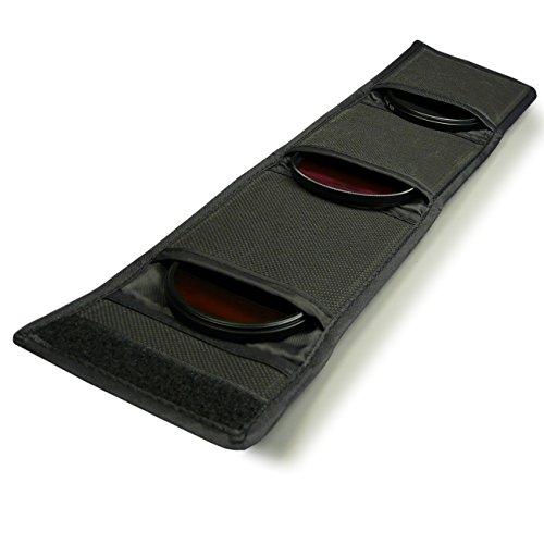 Bolsa Protectora Filtros 25-82 mm (3pcs) para Cannon Nikon Sony Pentax DSLR Cámara etc.