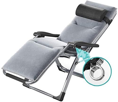 YAOHONG Colchonetas, sillas portátiles, Cojines, Patio Interior y Exterior terraza en el jardín, sillas Plegables de Cubierta Cómodo sillón reclinable (Color : Chair+Mat)