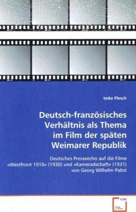 Plesch Imke: Deutsch-französisches Verhältnis als Thema im F