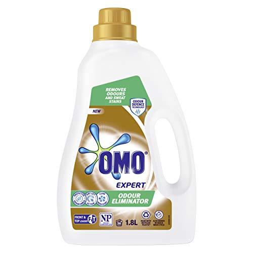 Omo Expert Laundry Liquid Detergent, Odour Eliminator, Odour Defence Technology, Front & Top Loader 1.8L