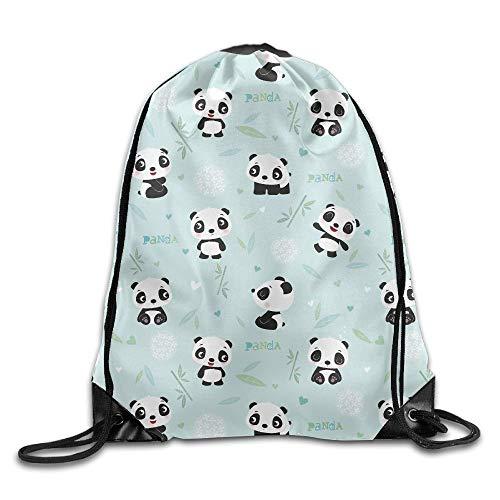 Etryrt Prämie Turnbeutel/Sportbeutel, Panda Pattern Drawstring Backpack Bag Shoulder Bags Gym Bag for Adult