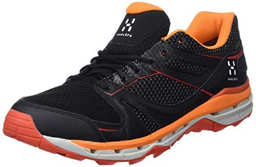 Haglöfs Observe GT Surround Chaussures de Randonnée Basses Homme, Noir (True Black/Habanero 3lr), 43 1/3 EU