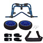Newcod kayak cart kayak trolley carrier dolly trailer for canoe boat with no-flat airless tires wheels 16 【good quality】22x1. 5mm aluminum tube with rubber pads. 【pu wheel】with two pu solid wheels, don't need to inflate. 【capacity】this kayak cart can be loaded 165lbs.