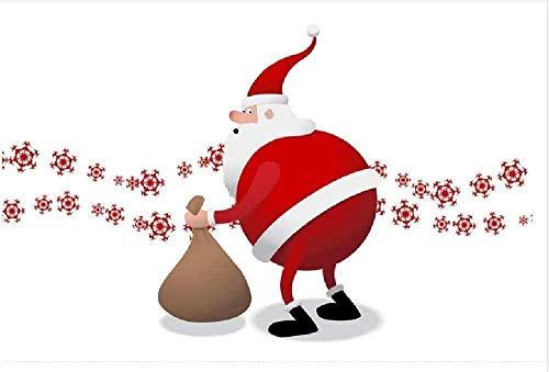 JIAORLEI DIY Gemälde Durch DIY Für Kinder Erwachsene Anfänger Weihnachtsmann Mit Tasche Kinderzimmer Hintergrundbild-40x50cm No Frame
