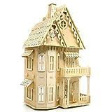Cuteroom Fantasy Villa - Rompecabezas 3D de Madera Kit Habitación Linda y Muebles