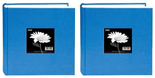 Pioneer 200 Pocket Fabric Frame Cover Photo Album, Sky Blue (2 pack)