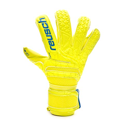 Reusch Kinder Fit Control S1 Evolution Torwarthandschuhe, Lime/Safety Yellow, 5.5