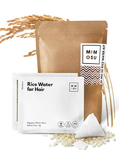 Rice Water for Hair Growth DIY Tea Bags Natural Deep Conditioner amp Detangler Nourished Organic Rice Protein to Help Regrowth amp Repair Damaged Hair Curly Girl Method Fermented Rice Water Hair Growth