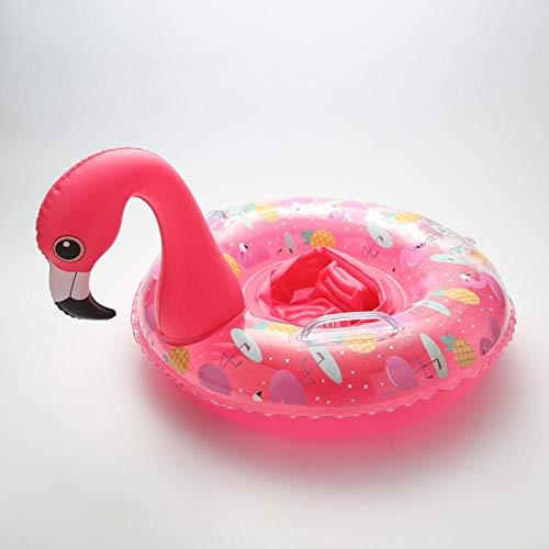 YHYZ Schwimmringe Kinder aufblasbare Dicke Farbe Flamingo Einhorn Kindersitz mit Griff Junge Mädchen Schwimmbad Strand schwimmenden Spielzeug, 70# Flamingo Sitzkreis