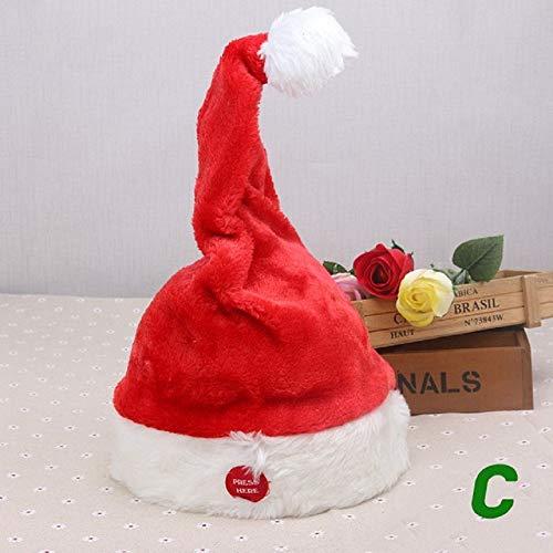 pZgfg Kerstmuts, muziekbel, kerstmuts, Santa, Anler, dans, elektrische beweging, pluche, voor volwassenen, winter, warm