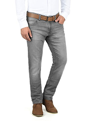 Indicode Quebec Herren Jeans Hose Denim Aus Stretch-Material Regular Fit, Größe:W34/34, Farbe:Light Grey (901)