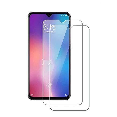 MSOSA [2 Stück Panzerglas für Xiaomi Mi 9 SE Schutzfolie, 9H Festigkeit Panzerglasfolie HD Bildschirmschutzfolie Vollständige Abdeckung Glas Folie für Xiaomi Mi 9 SE -Transparent