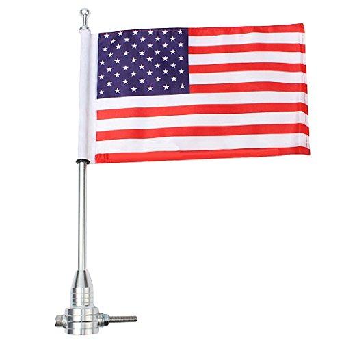 Gazechimp Motorrad Amerikanische USA Flagge Mit Diamant Platten Pfosten Bolzen Für 1200