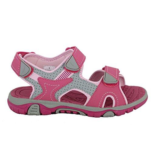 Khombu Girl's River Sandal Pink/Grey Size 2 M US