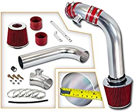 Rtunes Racing Cold Air Intake Kit + Filter Combo RED Compatible For 92-98 BMW E36 3 Series