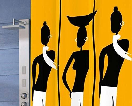 Gedy Duschvorhang Dakar gelb/schwarz 120x 200(6012772030)