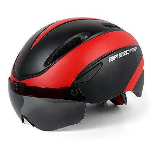 Shinmax Compatible with Bike Helmet SavvyGrow Fahrradhelm,CE-Zertifikat,Fahrradhelm mit Abnehmbarer Schutzbrille Visor Shield für Mountain & Road Fahrradhelm Einstellbarer Sicherheitsschutz