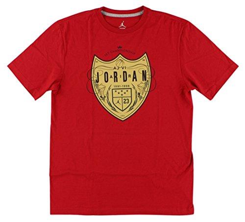 Jordan Mens gimnasio camiseta de champán rojo///Negro 651560–695 - 651560-695, L, GYM RED///BLACK