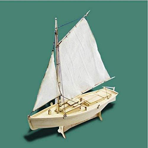 RUXMY Decoración Modelo de velero DIY 1:30 Kits de construcción de Montaje Modelo de Barco Juguetes de velero de Madera Modelo de Vela Kit de Madera ensamblado