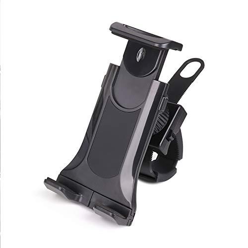 Exercise Bike Tablet Holder General Mobile Phone Holder Fitness Equipment, Portable Car Treadmill Indoor Gym Handlebar Swivel Mount for 4-10 Inch Tablets Smartphones
