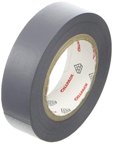 Cellpack 1458311280,15-15-10, Nastro D Elektrische Isolierung PVC, grau