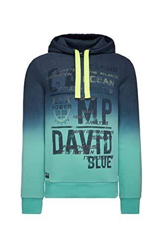 Camp David Herren Hoodie mit Farbverlauf und Frontprint