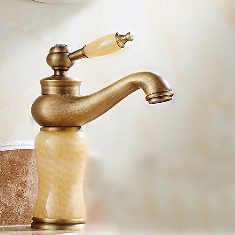 Lvsede Bad Wasserhahn Design Küchenarmatur Niederdruck Hei Und Kalt Kupfer Bad Retro Becken Jade Wasserhahn L5353