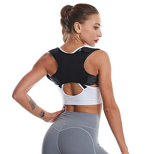 Back Correction with Hump Correction Posture Corrector Adjustable Upper Back Brace for Clavicle Support and Providing Pain Relief from Neck, Back and Shoulder