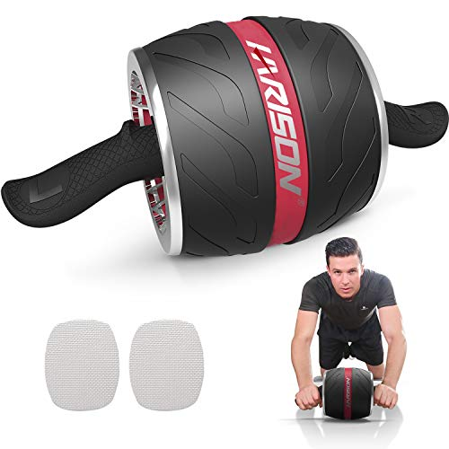 HARISON AB Roller Wheel for Abdominal Exercise- Lower AB Exercise Equipment for Home Gym Core Workout for Women and Men (Black)