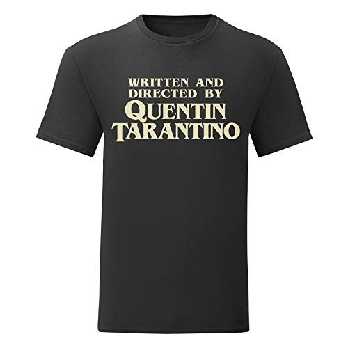 LaMAGLIERIA Camiseta Hombre Written and Directed by Quentin Tarantino - T-Shirt Cult Movie 100% algodòn