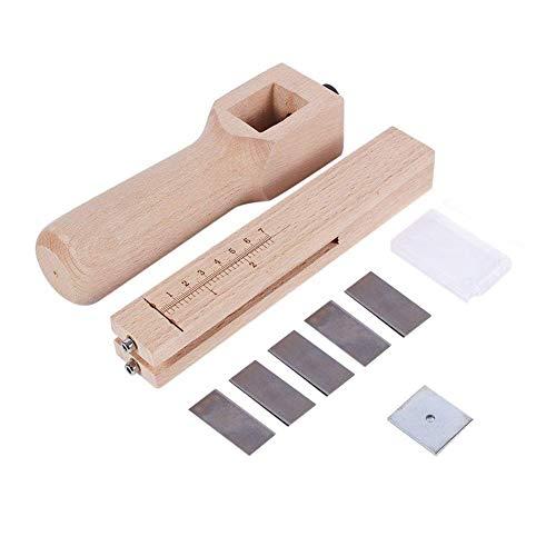 Justerbart handskuret verktyg för läder för hemmet