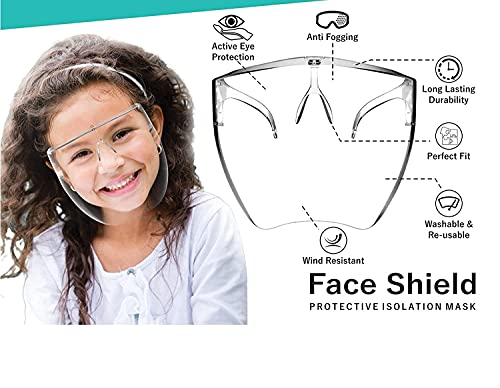 Haran Full Face Shield For Kids | Anti-fog, Washable, fits Perfectly with Removable Nose Rest