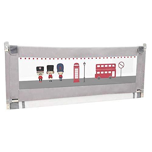 GXYAWPJ Barrière De Lit Portative Safety First, Couverture De Protection pour Balustrade De Lit Bébé - Gris (Taille: 150-200 Cm) (Couleur : Gray, Taille : 1.8m)