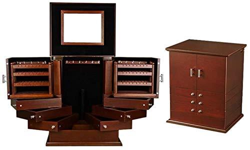 Leifeng Tower Multifunctional Caja de Accesorios de Accesorios de Gran Capacidad de Lujo Hecha a Mano Caja de joyería 2 Laterales y 2 Puertas Independientes (Color: C) (Color : A)