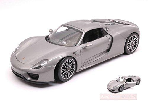 Welly WE18051HS Porsche 918 Spyder Hard Top Silver 1:18 MODELLINO Die Cast Model Compatible con