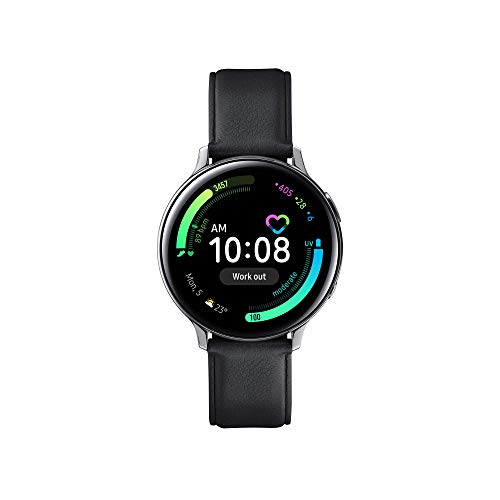 Samsung Galaxy Watch Active2 Stainless Steel Smartwatch Bluetooth 44 mm, GPS, hartslagsensor en tracker training, 30 g, accu 340 mAh, IP68, zilver [Italiaanse versie]
