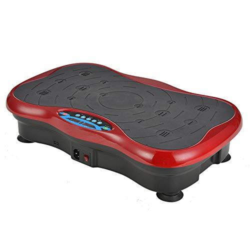 B/H Plataforma Vibratoria 3D para,Máquina de Adelgazamiento por vibración, máquina de Modelado Corporal de Masaje-roja,Plataforma Vibratoria Ultra Slim