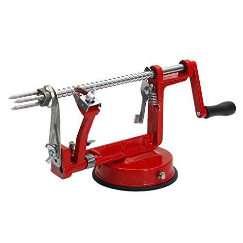 Apfelschäler, Apfelschälmaschine, 3-in-1-Handschärfmaschine Aus Rostfreiem Stahl Mit Automatischer Schäl- Und Kernschneidefunktion