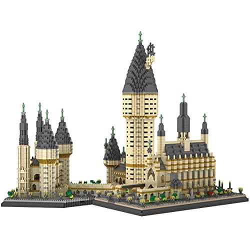 Bloques Construcción Partículas Plástico Miniatura, Modelo Construcción Castillo Hogwarts, Adornos Juguete Ensamblaje Diamantes Pequeños, Bloques Construcción Rompecabezas Moda Para Niños (7750PCS)