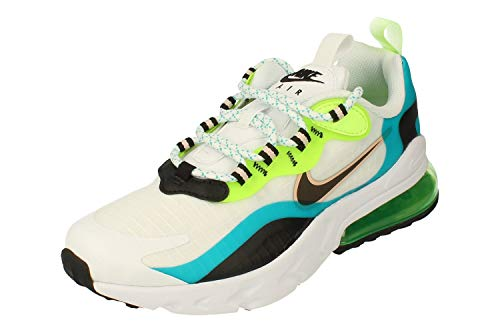 Nike Air MAX 270 React SE GS Running Trainers CJ4060 Sneakers Zapatos (UK 4.5 us 5Y EU 37.5, Oracle Aqua Black Ghost Green 300)