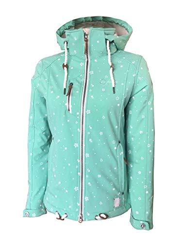 Dry Fashion Damen Softshell–Jacke Niebüll Farbe lindgrün, Größe 40