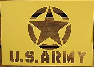 【紙製 ステンシル シート】 U.S.ARMY アメリカ陸軍 ミリタリー