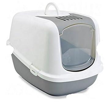 Grand bac à litière XXL couvert–dispose d'une ouverture sur le dessus pour un nettoyage rapide et facile–Intérieur Spacieux–Idéal pour les très grands chats
