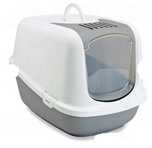 Arenero cubierto grande XXL, tiene una abertura superior para una limpieza rápida y fácil, un interior espacioso, ideal para gatos muy grandes
