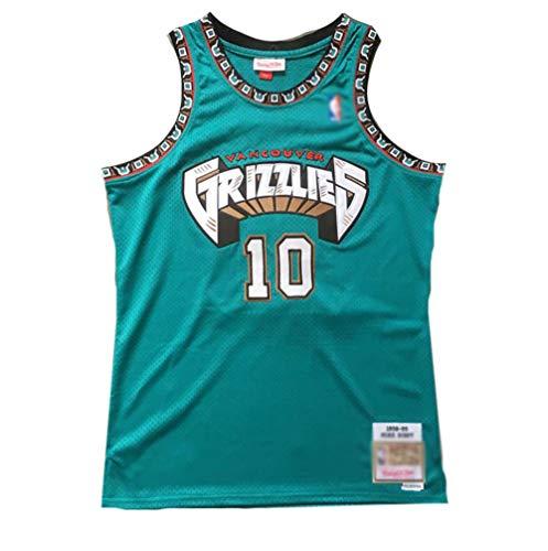 QQVV Grizzlies # 10 Mike Bibby Fan Basketball Trikot, 98 Vintage Version Boutique Mesh Jersey Weste Präzision Stickerei T-Shirt Tops Hemd Herren Jungen-A_S—Weihnachten Familie Geschenk