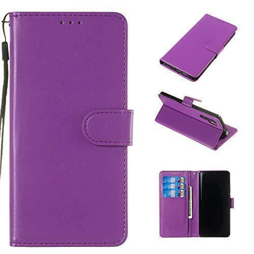Capa tipo carteira premium para Xperia XZ de couro PU flip carteira carteira compartimentos para cartão de identificação fecho magnético capa à prova de choque para Sony Xperia XZ Premium – Roxo