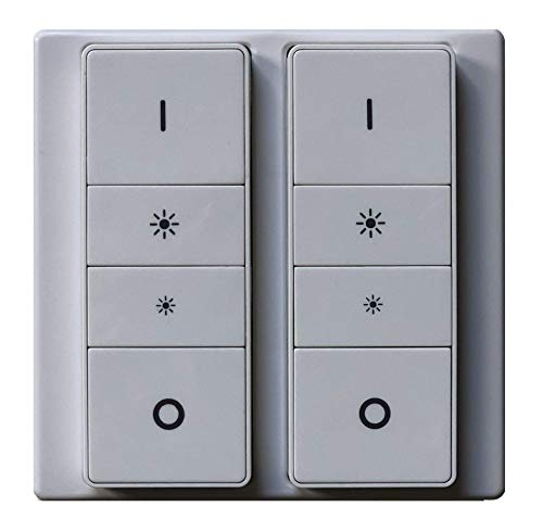 Lucasa Double White Dimmer Switch Cover Plate adapter for the Philips Hue Dimmer Switch, Injection Moulded (Dimmer Not included)